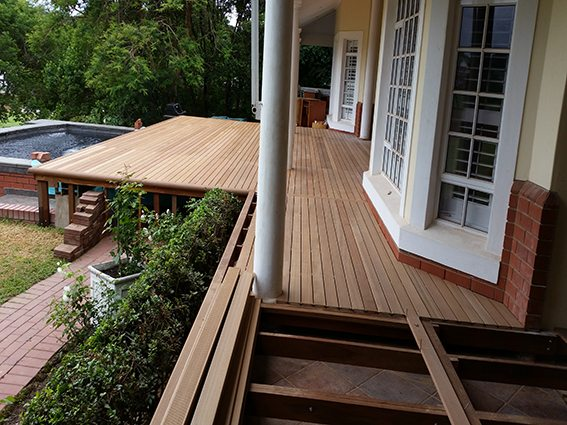 Balau deck being built over existing deck