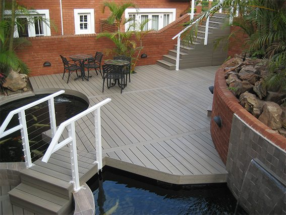 Composite decks for Durban North home