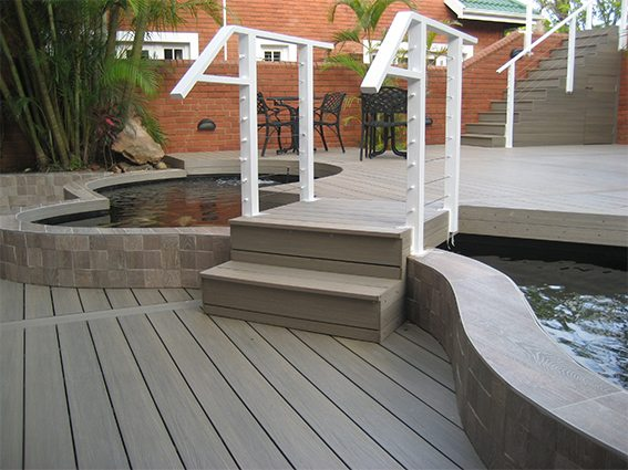 Composite decks - Koi Pond