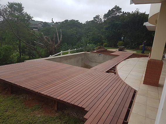 Almost complete Massaranduba deck