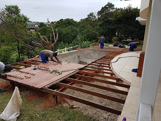 Massaranduba Pool deck under construction
