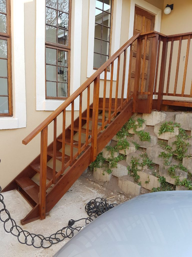 External Timber staircase and balustrade