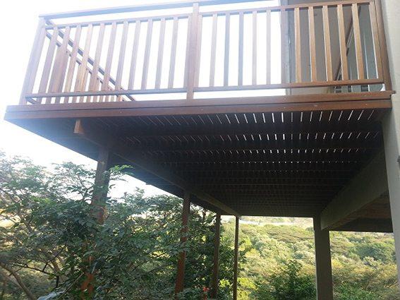 Wooden balustrading