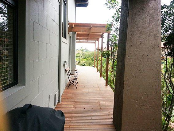 Pergolas over walkway