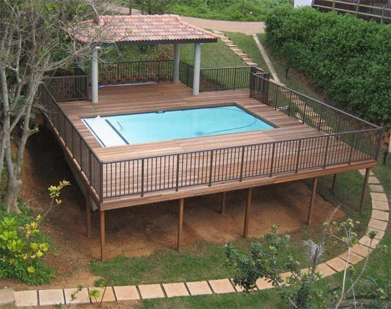 Timber Pool deck at Westbrook, KZN