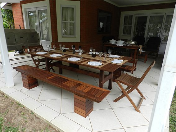 Handcrafted wooden furniture - dining table